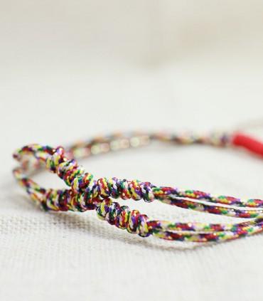 五色金剛結 - 手工編織手鏈