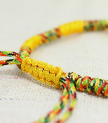 藏式金剛結 - 五色線手鏈(黃)
