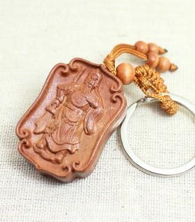 關聖帝君 桃木鑰匙圈